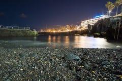 Belichtung der langen Zeit von Puerto de la Cruz-Promenade lizenzfreie stockfotografie
