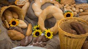 Belichtung von Bäckereiprodukten Stockfotos