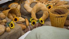 Belichtung von Bäckereiprodukten Stockfoto