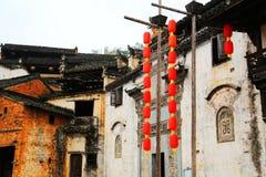 Belichtung von Ernten in der Herbstsaison an Huanglin-Dorf Stockfotos
