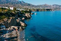 Beliebtes Erholungsort von Nerja in Spanien Ansicht von Balcon De Lizenzfreie Stockfotos