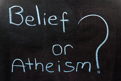 Belief or Atheism Royalty Free Stock Photos