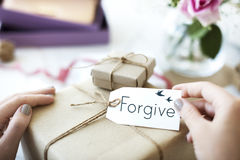 Belief Faith Hope Love Concept. Forgive Love Gift Present Concept royalty free stock photos