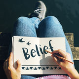 Belief Faith Hope Love Concept Stock Images