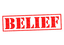 BELIEF. Red Rubber Stamp over a white background Stock Photography