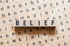 Belief word concept royalty free stock photo