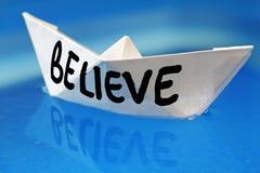 Believe Stock Image