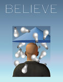 Believe Stock Photo