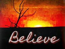 believe Lizenzfreies Stockbild