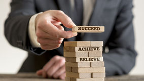 Believe Achieve and Succeed Stock Images