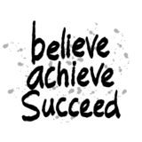 Believe achieve succeed. Motivational quote stock illustration