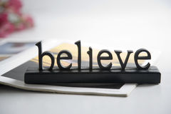 Believe Stock Image