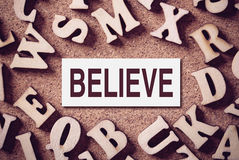 Believe Concept Word Stock Photos