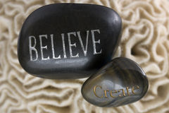 Believe create spa stones Royalty Free Stock Photos