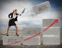 Believe in economic recovery Stock Photography