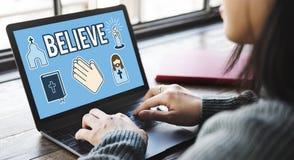 Believe Faith Individuality Mindset Spirituality Concept Stock Images