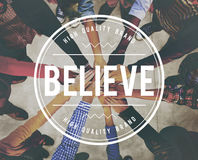 Believe Faith Spirituality Religion Hope Mindset Worship Concept Royalty Free Stock Photo