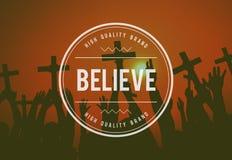 Believe Faith Spirituality Religion Hope Mindset Worship Concept Stock Photos