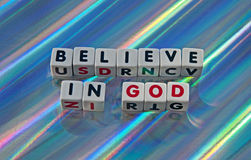 Believe in God Royalty Free Stock Photos