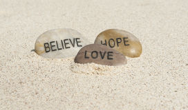 Believe, Hope, Love Royalty Free Stock Photos