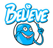 Believe icon message. Creative design of believe icon message Royalty Free Stock Images
