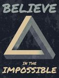 Believe in the impossible typography illustration. Royalty Free Stock Photo