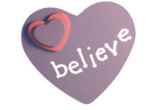 Believe in Love. A decorative heart Stock Images