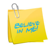 Believe in me post message illustration design Royalty Free Stock Images