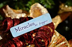 Believe in Miracles Stock Photography