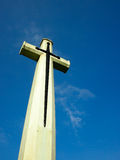 Believe in Peace. A Big Cross in deep blue sky Royalty Free Stock Photography