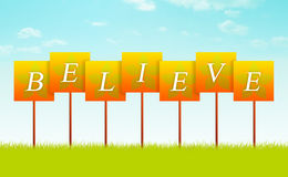 Believe Sign Royalty Free Stock Photo
