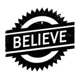 Believe stamp rubber grunge. Believe stamp. Grunge design with dust scratches. Effects can be easily removed for a clean, crisp look. Color is easily changed Stock Image