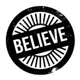 Believe stamp rubber grunge. Believe stamp. Grunge design with dust scratches. Effects can be easily removed for a clean, crisp look. Color is easily changed Royalty Free Stock Images