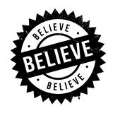 Believe stamp rubber grunge. Believe stamp. Grunge design with dust scratches. Effects can be easily removed for a clean, crisp look. Color is easily changed Stock Images