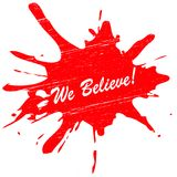 We believe. Stamp with text  inside,  illustration Royalty Free Stock Photography