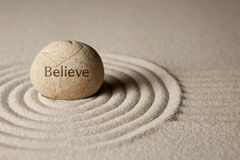 Believe stone Royalty Free Stock Images