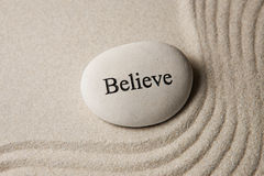 Believe Stone Stock Image