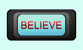 Believe. Vector graphic of a religious sign Royalty Free Stock Photography