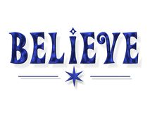Believe Word Letters Stock Photos