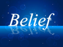 Believe Word Represents Belive In Yourself And Confidence. Word Belief Meaning Belive In Yourself And Believing Beliefs Royalty Free Stock Image