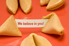 We Believe In You Fortune Cookie Stock Photography