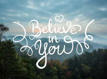 Believe in you message vector Stock Photo