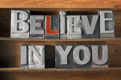 Believe in you tray Royalty Free Stock Photos