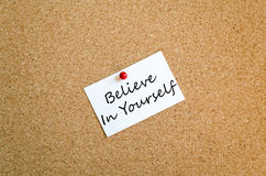 Believe in yourself concept Royalty Free Stock Photo