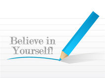Believe in yourself illustration design Royalty Free Stock Image