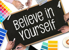 Believe in Yourself  , just Believe on SUCCESS Royalty Free Stock Photo