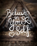 Believe in yourself message vector Royalty Free Stock Photography
