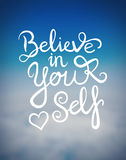 Believe in yourself message vector Royalty Free Stock Photo