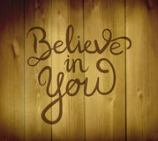 Believe in yourself message vector Royalty Free Stock Photos