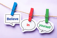 Believe in yourself Royalty Free Stock Photo